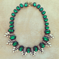 Pree Brulee - Emerald Desert Lover Statement Necklace