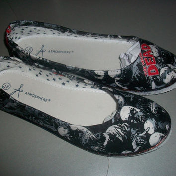 the walking dead zombie customised handmade to order women's uk size shoes