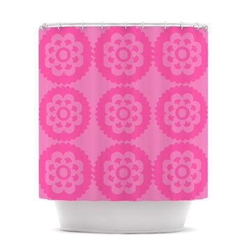 """Nicole Ketchum """"Moroccan Pink"""" Shower Curtain"""
