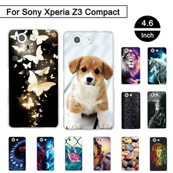 "Painted Case For Sony Xperia Z3 Mini D5803 D5833 4.6"" Soft TPU Cover For Sony Xperia Z3 Compact Cases For Sony Xperia z3 Compact"