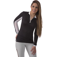 Kastel Denmark Charlotte Sunshirt Black with White Trim
