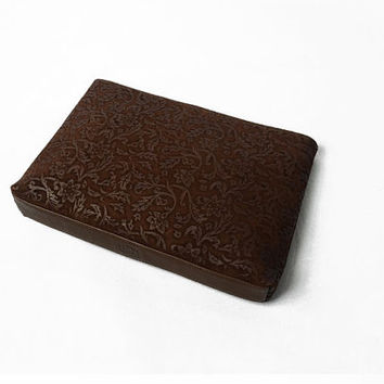 Clutches Clutch Embossed Leather Large Red Vine Bordo Brown Clutch bag Clutch Purse Leather clutch Burgundy Clutch Bag