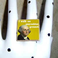 GEORGE WASHINGTON quote Ring by QuotedArt on Etsy