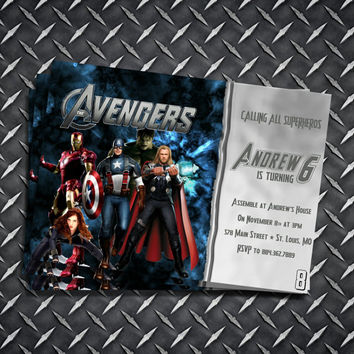 Avengers Birthday Invitation Personalized Printable