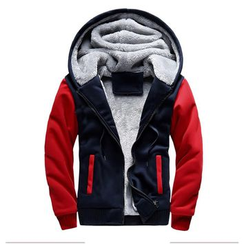 Fur Jacket Men 2018 Winter Bomber Jackets Male Hooded Coats Zipper Casual Thicken Hoodies Warm Tracksuit Fleece Fur Sportswears