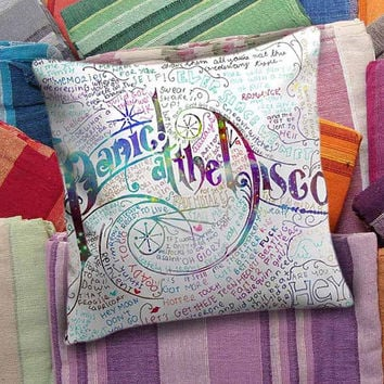 Panic At The Disco Lyric  decorative pillow and pillow case