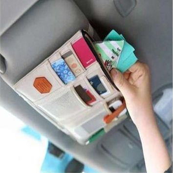Sun Visor Point Pocket Documents Pouch Car Storage Holder In-Car Hanging Bag