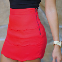 Lovely In Layers Skirt: Bright Red | Hope's
