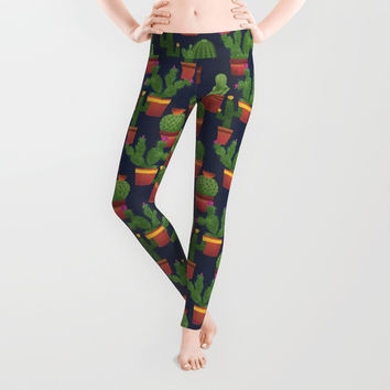 Terra Cotta Cacti Leggings by Noonday Design