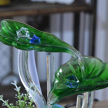Crystal Ball tabletop Creative lotus Home Decor Water Fountain