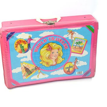 Vintage Barbie Case Barbie Doll Case World Traveler Doll Case New York London Paris Barbie Toy Box