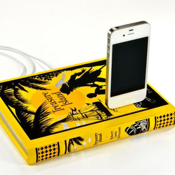 Treasure Island Book Charger for iPhone by CANTERWICK