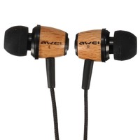 ELEGIANT AWEI Q9 Super Bass Stero Wooden Headphones Earphones Headset