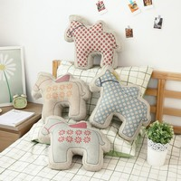 Soft Horse Pillow; Decorative Childrens'