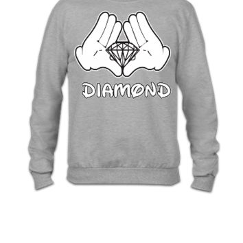 Mickey Mouse Diamond Hands  - Crewneck Sweatshirt