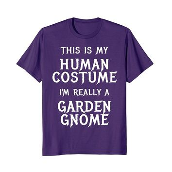 Garden Gnome Halloween Costume Shirt Funny Men Women Kids