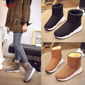 HQFZO High quality classic women winter boots ladies soft comfy  snow boots female winter boots women winter shoes women boots