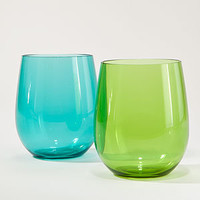 Green and Aqua Acrylic Stemless Tumblers, Set of 4 | Drinkware| Kitchen & Dining | World Market