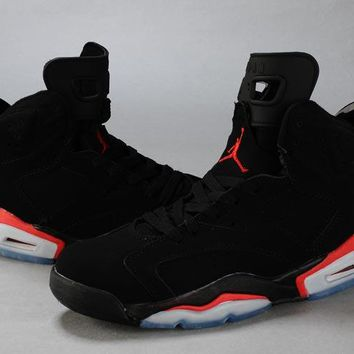 Air Jordan 6 Retro AJ6 VI Black/Red Men Basketball shoes US 7-13