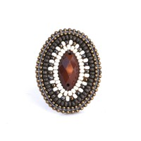 Beaded ring - Rocky Mountain Oval
