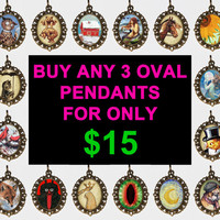 Buy 3 Oval Necklaces For Only 15 Dollars - HOLIDAY DEAL
