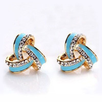 Elegant Anti-allergy Bling Rhinestone Studs