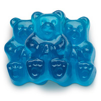 Blue Raspberry Gummy Bears: 5LB Bag