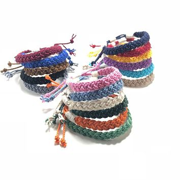 Adjustable Woven Bracelet, Choose from 17 Colors
