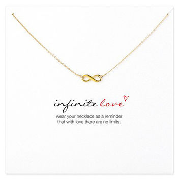 New Arrival Jewelry Shiny Stylish Gift Lock Infinity Alloy Necklace [11462530895]