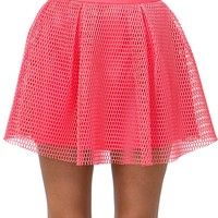 Honeycomb Mesh Skater Skirt