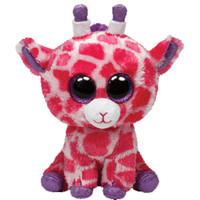 TY Beanie Boos - TWIGS the Pink Giraffe (Glitter Eyes) (Regular Size - 6 inch)