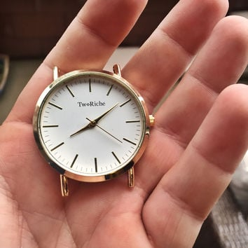 Gold Two Riche watch