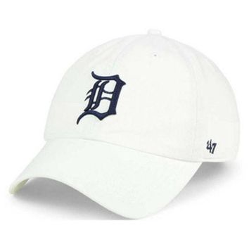 ESBON MLB Detroit Tigers White Adjustable Clean Up Hat