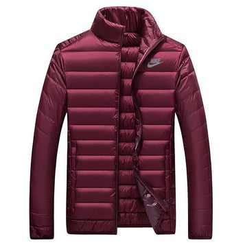 Nike Women Men Fashion Casual Eider Down Cardigan Jacket Coat Windbreaker-5
