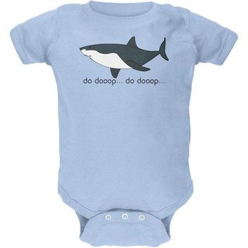 LMFCY8 Great White Shark Suspense Cute Soft Baby Crewneck One Piece