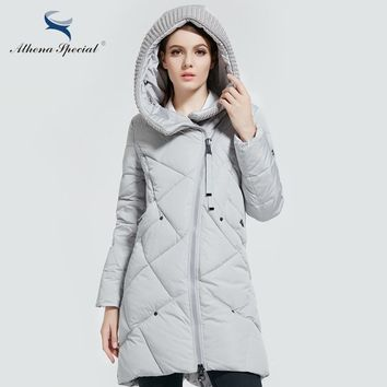 Athena Special New Winter Collection Brand Fashion Bio Down Thick Women Jacket Hooded Women Parkas Coats Plus Size 5XL 6XL