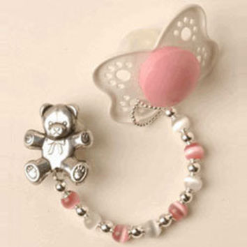 Color Beads Pacifier Clip Baby Jewelry - LuxuryLamb.Com
