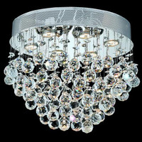 Bernadette - Flush Mount (6 Light Contemporary Flush Mount Crystal Chandelier) - 1719F20
