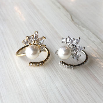 Pearl Nail Accent Ring