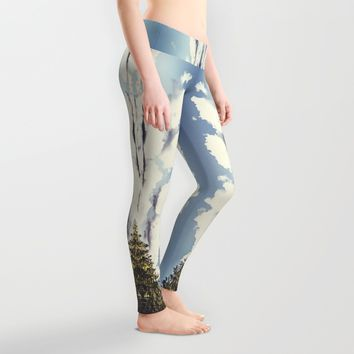 End of the road Leggings by HappyMelvin