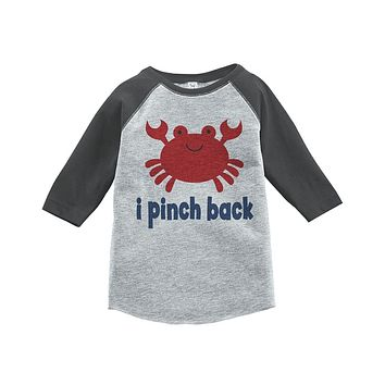 Custom Party Shop Funny Crab Summer Raglan Tee