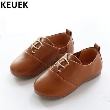 NEW Spring/Autumn Loafers Children Shoes Flats Boys Girls Leather Shoes Baby Casual Sneakers Soft bottom Kids Shoes 03