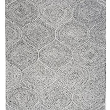 Brindleton Collection Hand-Tufted Area Rug, 8' X 10', Gray/Ivory