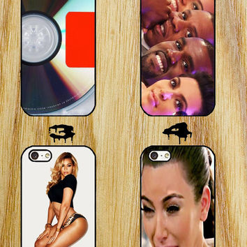 kanye west, yezus cover album, beyoce, kim kadarshian crying iPhone 4/4S/5/5S/5C/6 Samsung Galaxy S3/S4/S5 custom case