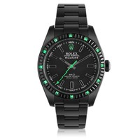 MAD Customized Watches Designer Men's Watches Customized Rolex Milgauss Emerald Baguette Men's Watch