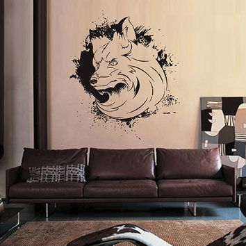 ik2940 Wall Decal Sticker animal fox living room bedroom