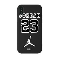 NIKE Jordan New fashion metal people silicone phone case protective case
