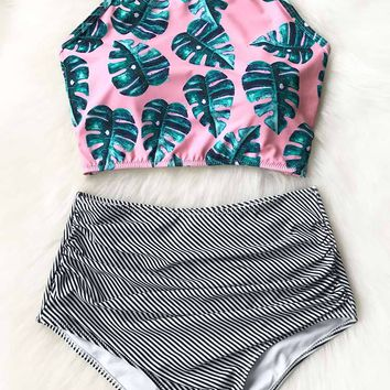 Cupshe Youthful Vigour Halter Print Bikini Set
