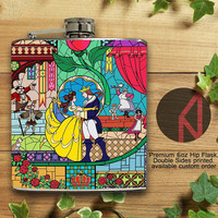Beauty and The Beast 6oz and 8oz Hip Flask