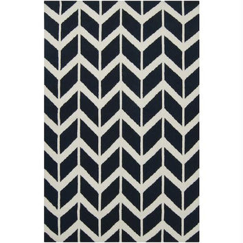 Area Rug - 2' X 3' - Colors Include Federal Blue And Winter White